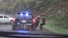 Ação rápida! Policial salva colega de atropelamento à beira de rodovia