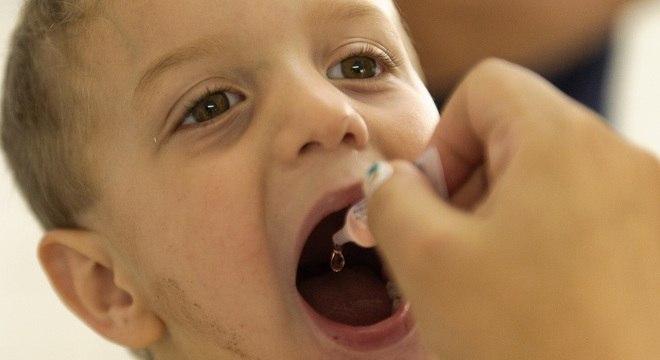 Recomendação é de que a cobertura vacinal contra pólio seja superior a 95%