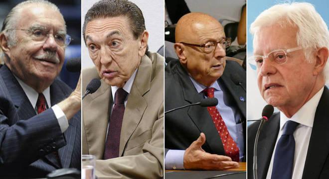 Sarney, Lobão, Esperidião Amin e Moreira Franco estão entre os beneficiados