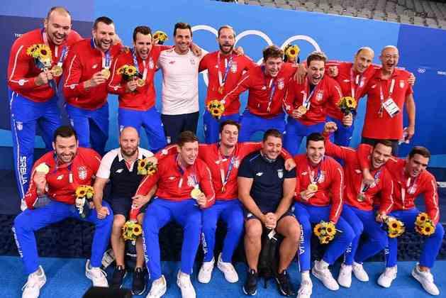 POLO AQUÁTICO - A Sérvia venceu a Grécia na decisão por 13 a 10 e conquistou a medalha de ouro. Os gregos ficaram com a prata.