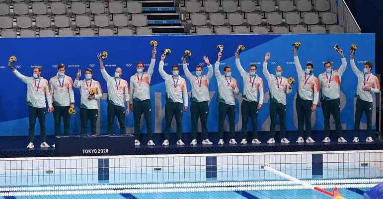 POLO AQUÁTICO - Já a Hungria venceu a Espanha por 9 a 5 e ficou com a medalha de bronze.