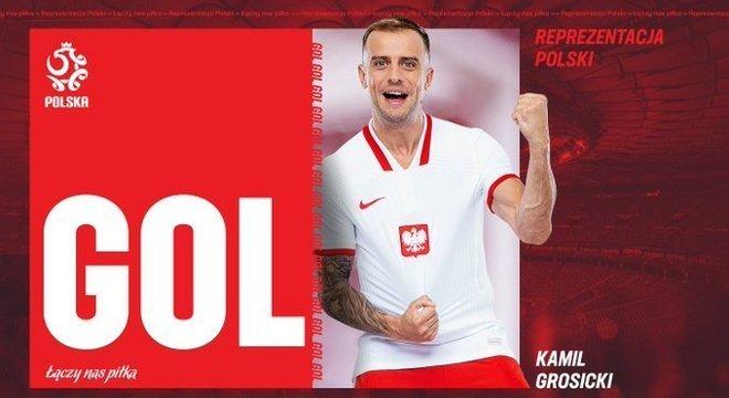 Num twitter da Polônia, a homenagem ao gol da virada
