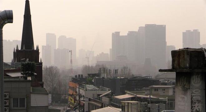 Densa poluição atmosférica sufocou a Coreia do Sul nos últimos meses