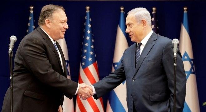 Pompeo desembarcou hoje em Israel para encontrar com Netanyahu