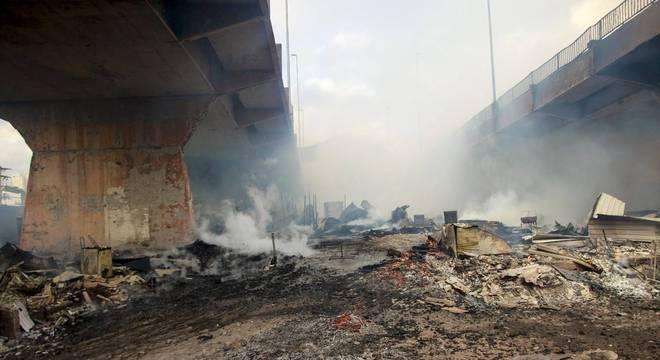 Bombeiros confirmaram que não houve vítimas