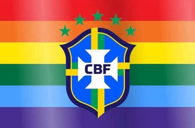"""Por fim, a CBF destacou em uma publicação que """"o futebol brasileiro não tem espaço para preconceito"""" e que a instituição apoia as lutas contra a LGBTQIA+fobia."""