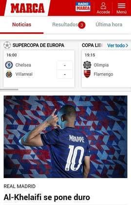 Por outro lado, o Marca, de Madri, dá prioridade a situação de Mbappé, alvo do Real Madrid