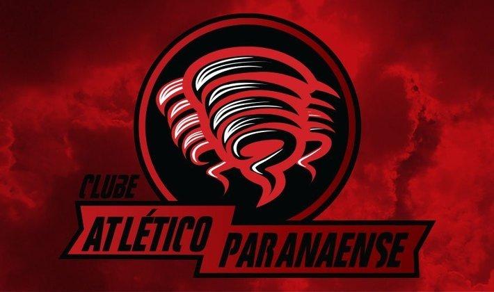 Por um futebol mais bonito: escudo remodelado do Athletico Paranaense. Cabe ressaltar, que como o trabalho foi feito em 2016, o clube paranaense ainda não havia passado pela reformulação na sua marca.