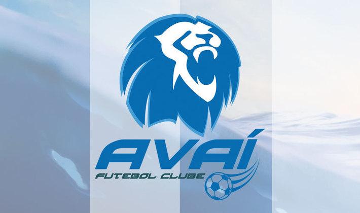 Por um futebol mais bonito: escudo remodelado do Avaí.