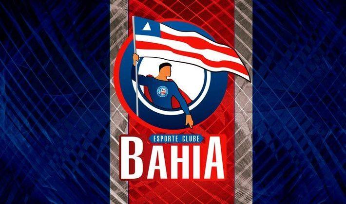 Por um futebol mais bonito: escudo remodelado do Bahia.