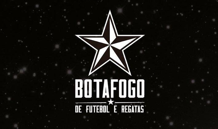 Por um futebol mais bonito: escudo remodelado do Botafogo.
