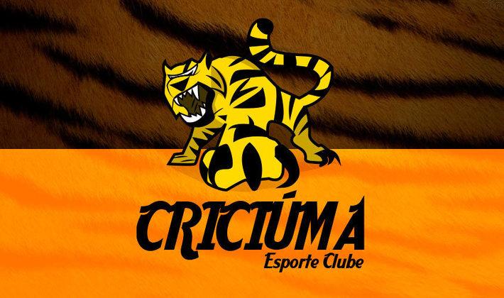 Por um futebol mais bonito: escudo remodelado do Criciúma.