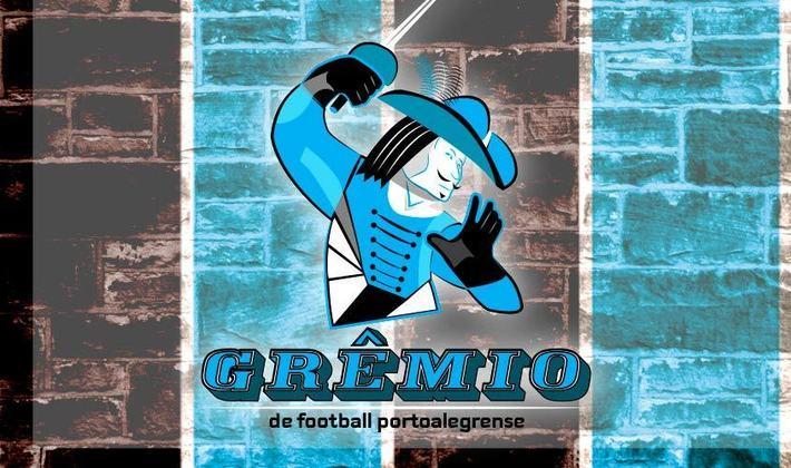 Por um futebol mais bonito: escudo remodelado do Grêmio.