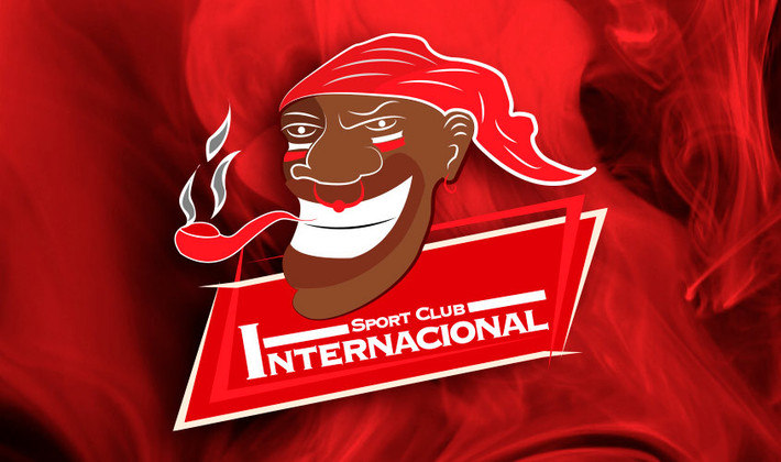 Por um futebol mais bonito: escudo remodelado do Internacional.