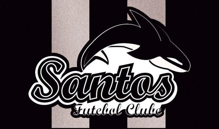 Por um futebol mais bonito: escudo remodelado do Santos.