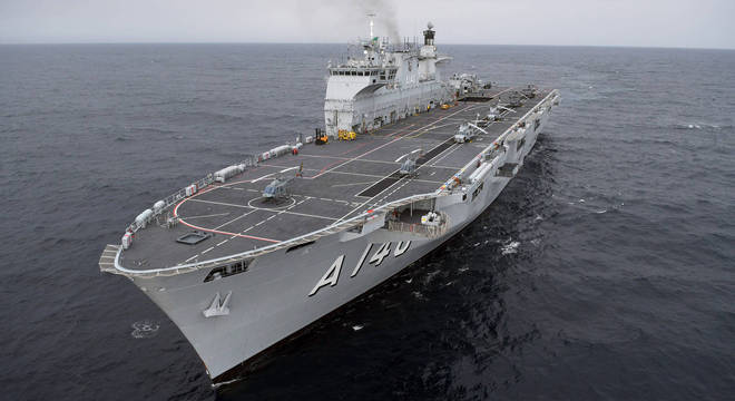 O Porta-Helicópteros Multipropósito Atlântico custou R$ 443 milhões