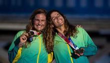 Martine Grael e Kahena Kunze são bicampeãs olímpicas na classe 49er FX