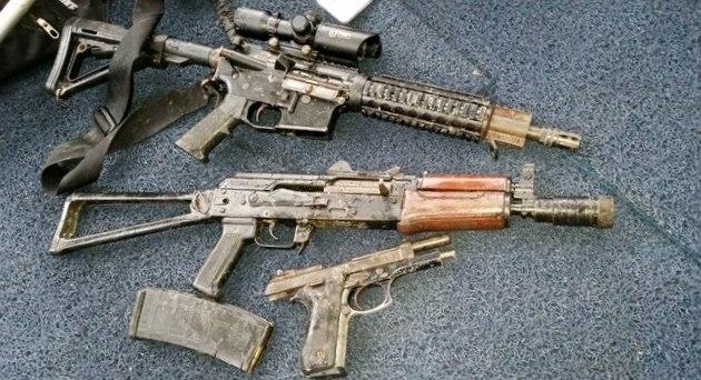 Armas apreendidas na ação da PF em que Randi foi morto