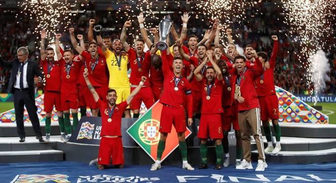 A seleção de Portugal, campeã da Liga das Nações de 2018/2019