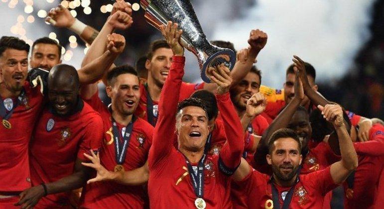 Cristiano Ronaldo e a seleção de Portugal, campeã da edição inaugural da NL