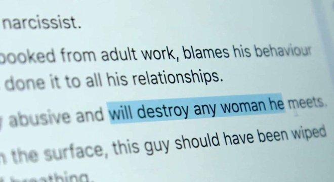 """Post do Prick Advisor fala a respeito de um homem descrito como """"abusivo e que vai destruir qualquer mulher que ele conhecer"""""""