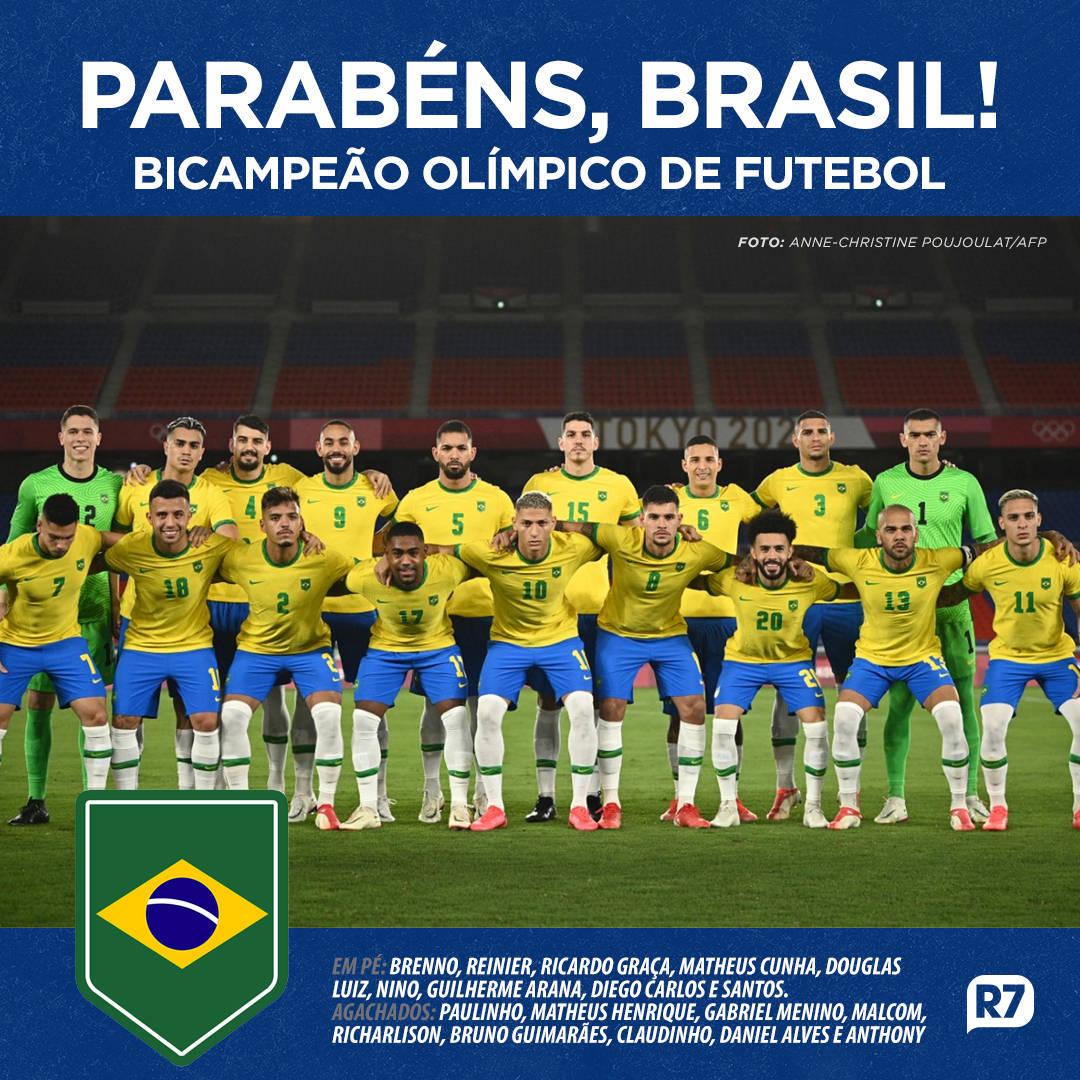 Brasil faturou o bicampeonato em Olimpíadas