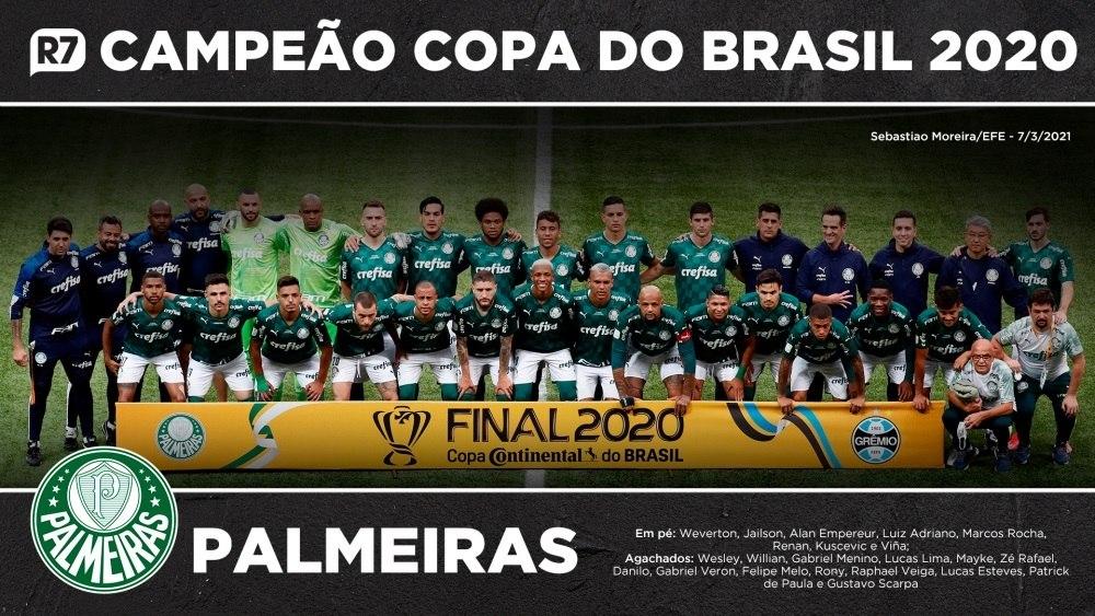 Confira os campeões da Copa do Brasil de 2020 pelo Palmeiras