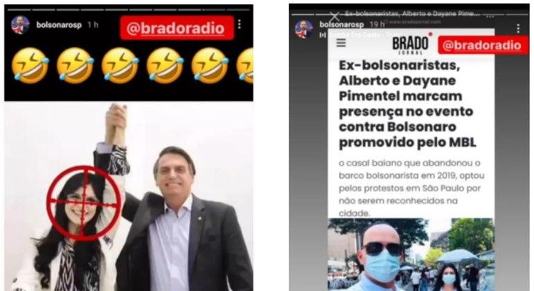 Reprodução de postagem feita por Eduardo Bolsonaro em rede social