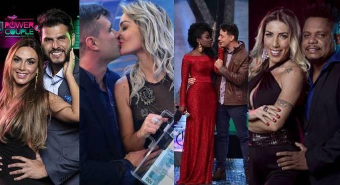 Casais vencedores do Power Couple Brasil em diferentes temporadas