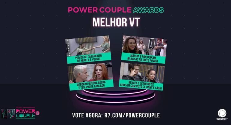 Power Couple Awards: vote agora no melhor VT do reality!