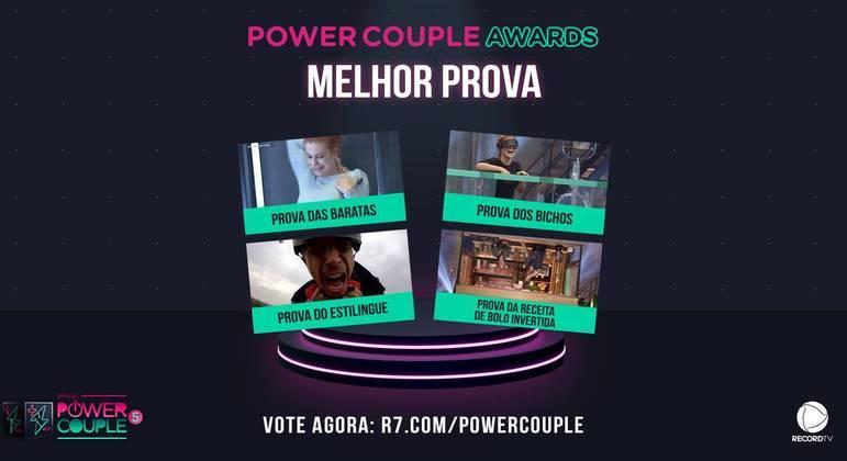 Power Couple Awards: vote agora na melhor prova do reality!