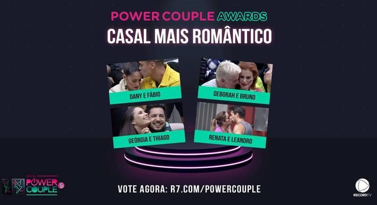 Power Couple Awards: vote agora no casal mais romântico do reality!