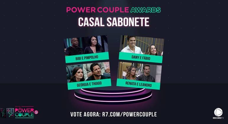 Power Couple Awards: vote agora no casal sabonete do reality!