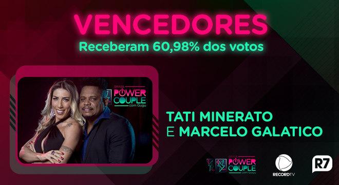 Tati e Marcelo são os grandes vencedores do Power Couple Brasil 3