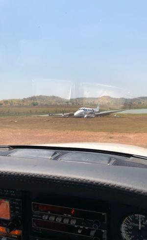 Uma outra aeronave ajudou a socorre os feridos
