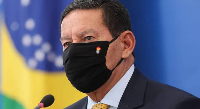 O vice-presidente da República, Hamilton Mourão, que criticou Gilmar Mendes