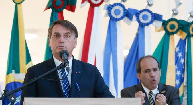O presidente Jair Bolsonaro, durante evento