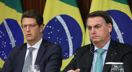 Bolsonaro e Salles em evento da Cúpula do Clima
