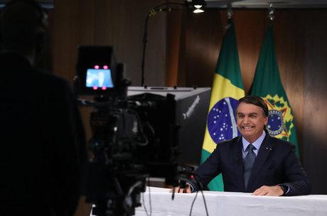 Presidente da República Jair Bolsonaro, durante gravação de discurso para a 75ª Assembleia Geral da ONU