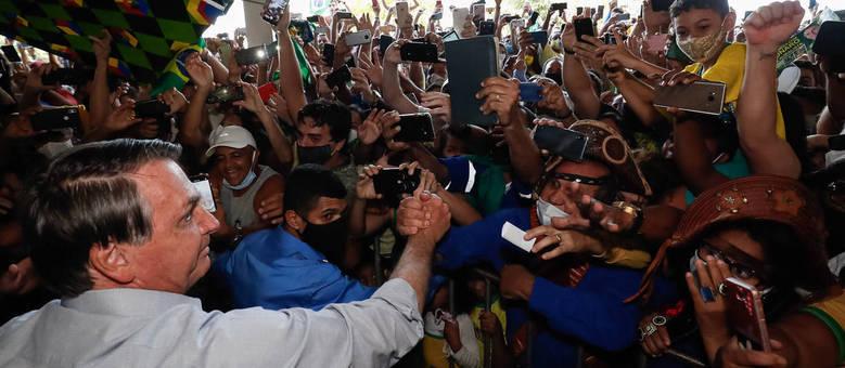 O presidente Jair Bolsonaro inaugura a Usina Termoelétrica Porto de Sergipe
