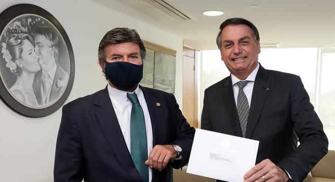 Fux e o presidente Bolsonaro em evento no Palácio do Planalto
