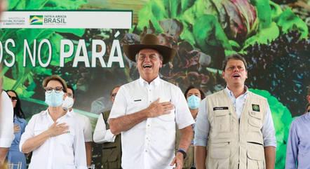 Bolsonaro em cerimônia de entrega de Títulos de Propriedade Rural em Marabá (PA)