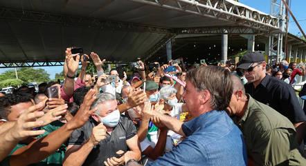 Na imagem, Bolsonaro em evento no Maranhão