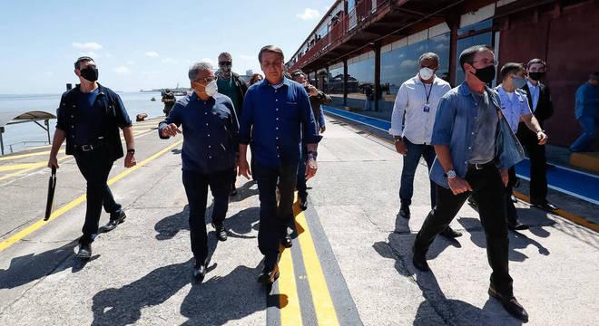 Presidente Jair Bolsonaro em inauguração de obra: governo quer atrair dinheiro privado