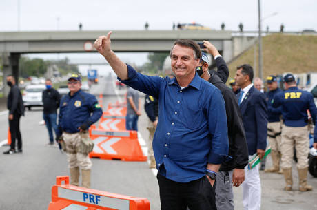 Bolsonaro visitou as obras do aeroporto de Congonhas