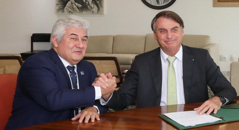 Ministro Marcos Pontes e o presidente Jair Bolsonaro: recusos devem ser repostos