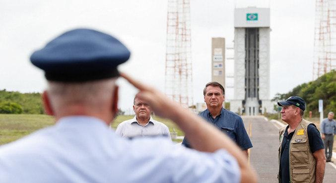 Bolsonaro em evento nesta quinta-feira (11), no Maranhão