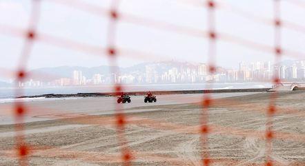 Baixada Santista antecipou fechamento de praias