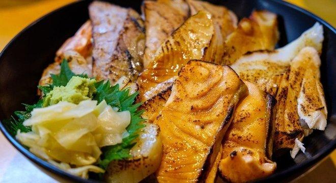 Peixe no lugar de carne, arroz no lugar de trigo é parte da chave da comida japonesa