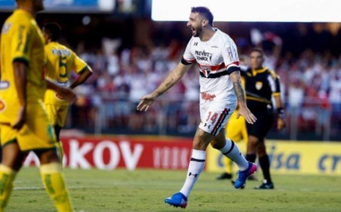 Pratto - O atacante Lucas Pratto estreou no empate contra o Mirassol, no dia 18 de fevereiro, no Paulistão. Na ocasião, o argentino balançou as redes uma vez.